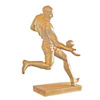 Bronze Rugby footbal player statue CCS-086