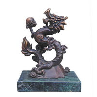 Playing ball dragon sculpture CA-069