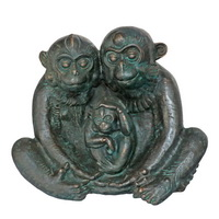 Monkey family statue sculpture CA-089